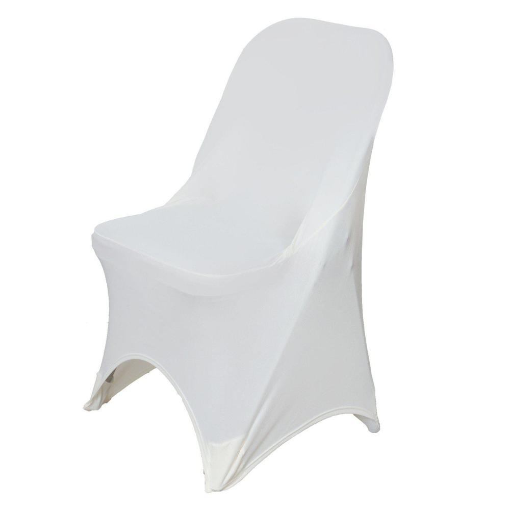 Wholesale Ivory Spandex Stretch Folding Chair Cover Wedding Party Event