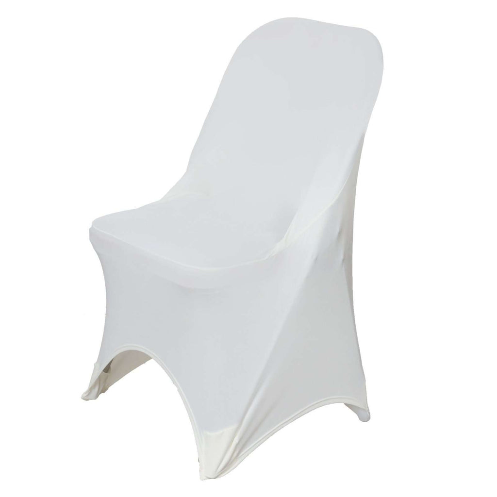 Chair Covers for Folding Chair / Spandex - Ivory