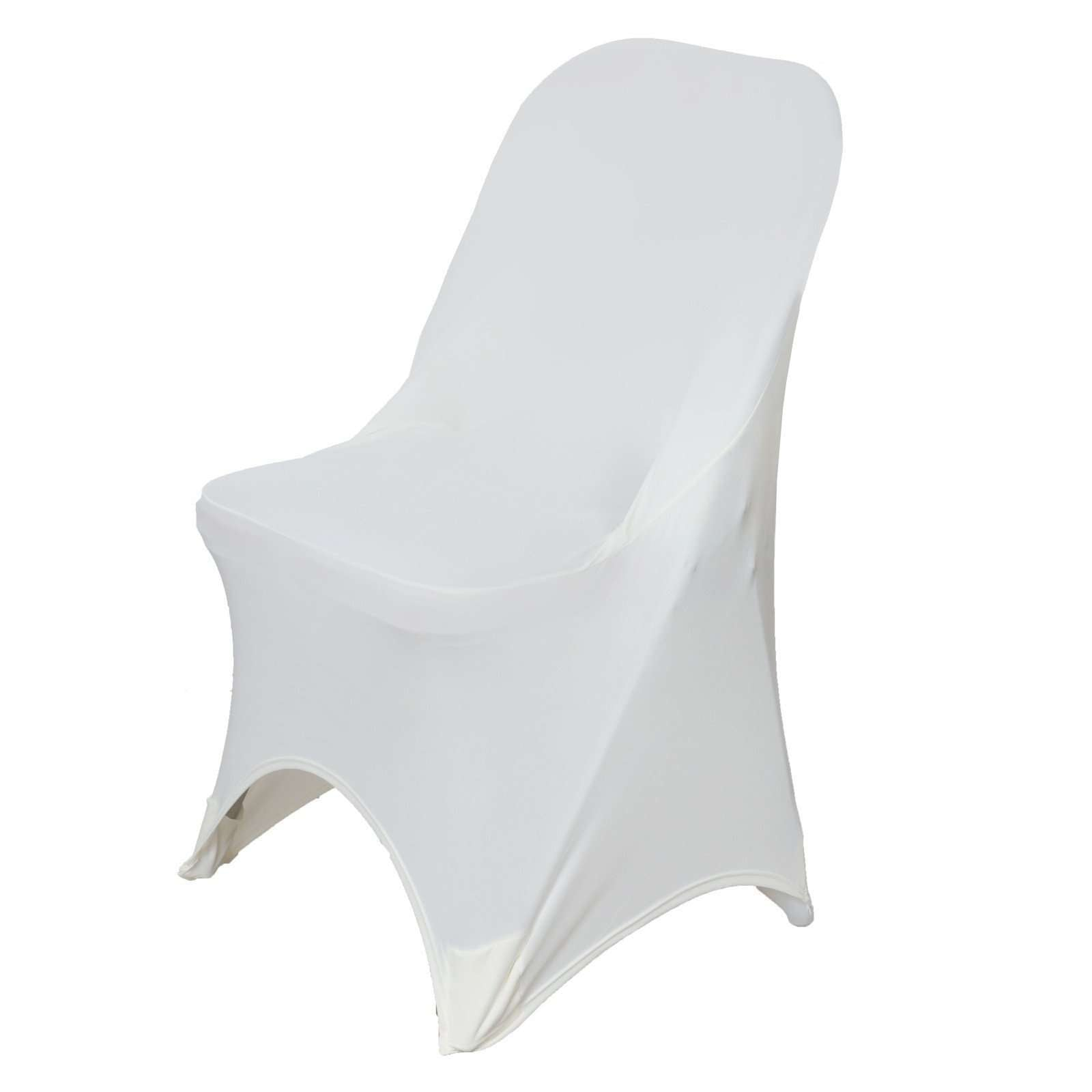 Wondrous Wholesale Ivory Spandex Stretch Folding Chair Cover Wedding Party Event Chaircoverfactory Bralicious Painted Fabric Chair Ideas Braliciousco