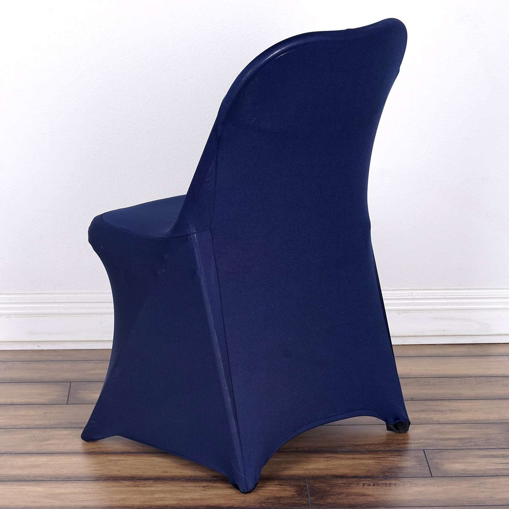 Wholesale Navy Spandex Stretch Folding Chair Cover Wedding Party Event