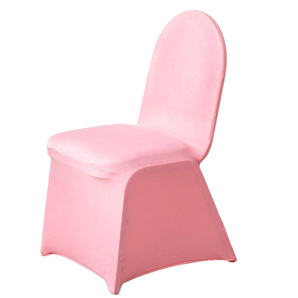 Wholesale Rose Quartz Spandex Stretch Banquet Chair Cover Wedding Party Event