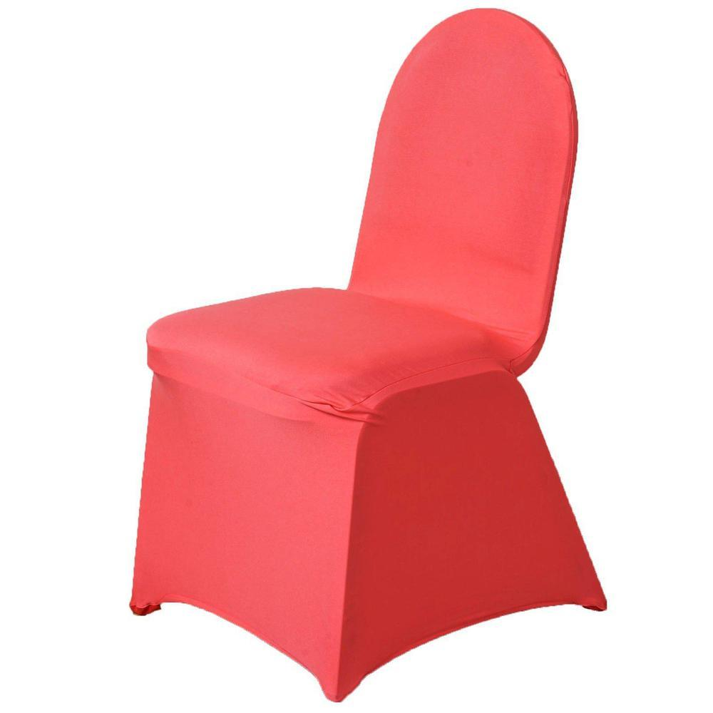 Wholesale Coral Spandex Stretch Banquet Chair Cover Wedding Party Event