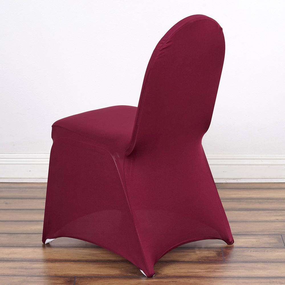 160 GSM Wholesale Burgundy Stretch Spandex Banquet Chair Cover With Foot Pockets