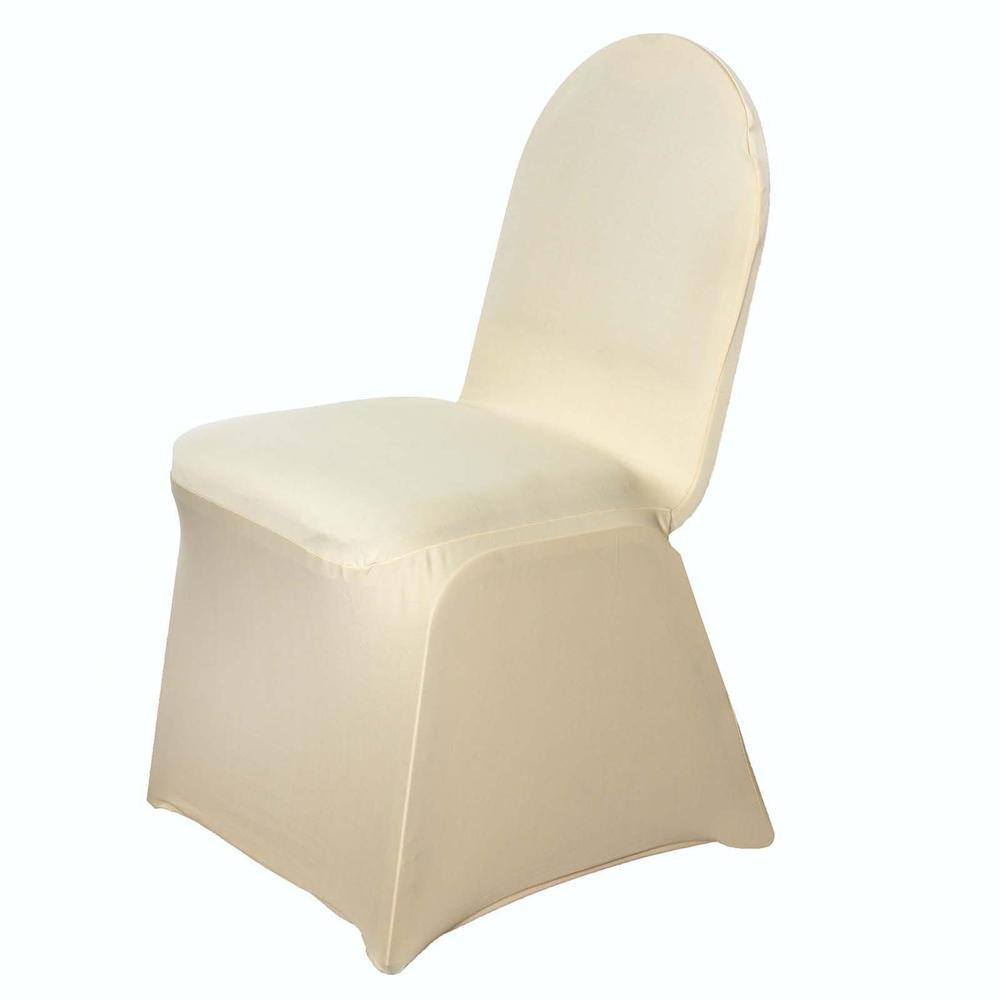 160 GSM Wholesale Champagne Spandex Stretch Banquet Chair Cover Wedding Party Event
