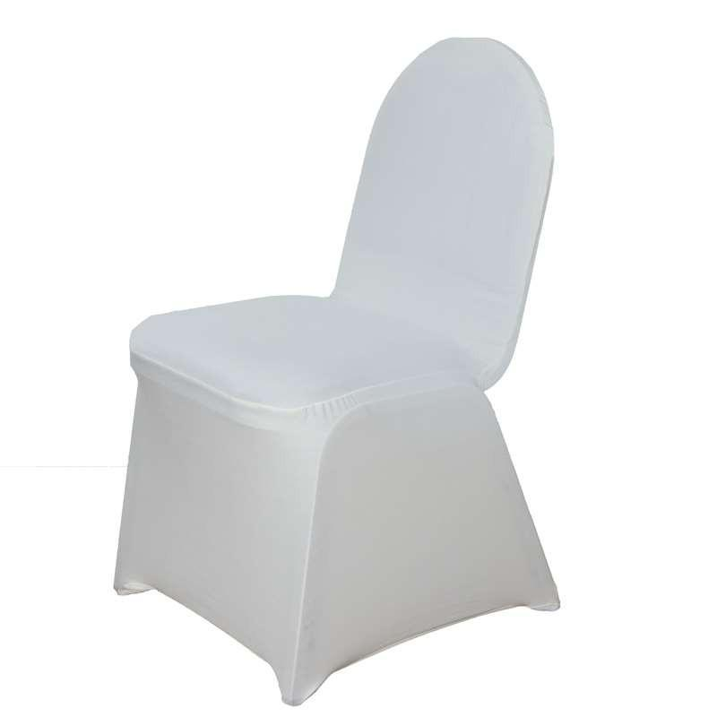 160 GSM Wholesale Ivory Spandex Stretch Banquet Chair Cover Wedding Party Event