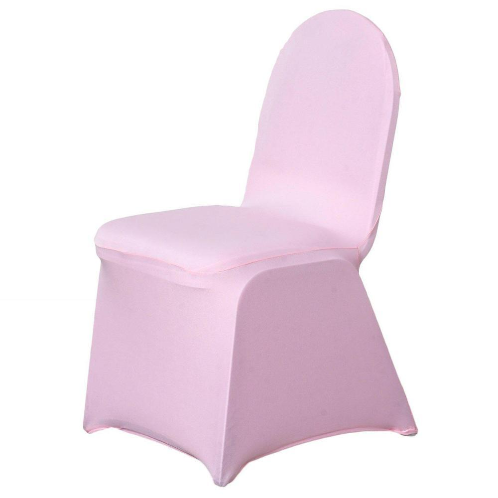 Wholesale Pink Spandex Stretch Banquet Chair Cover Wedding Party Event