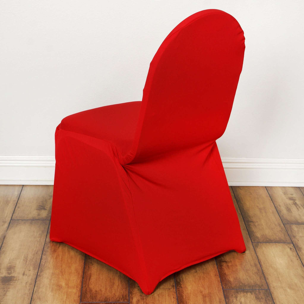 Wholesale Red Spandex Stretch Banquet Chair Cover Wedding ...