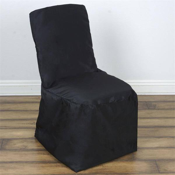 Wholesale Black Polyester Square Top Banquet Chair Covers Party Wedding Event