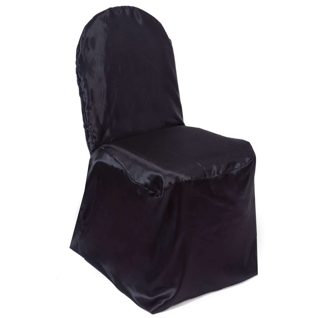 Chair Covers / Banquet - Satin Black