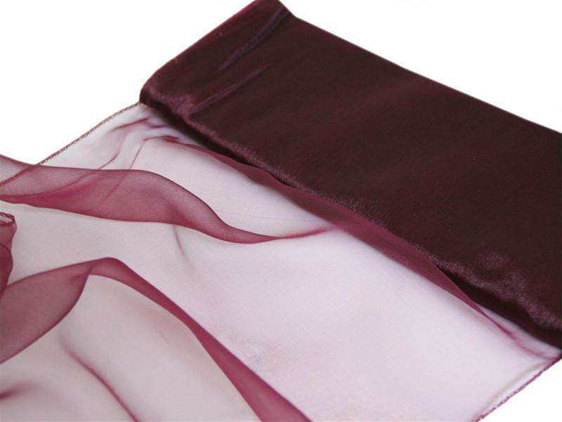 "Chiffon Fabric Bolt 12"" x 10Yards - Burgundy"