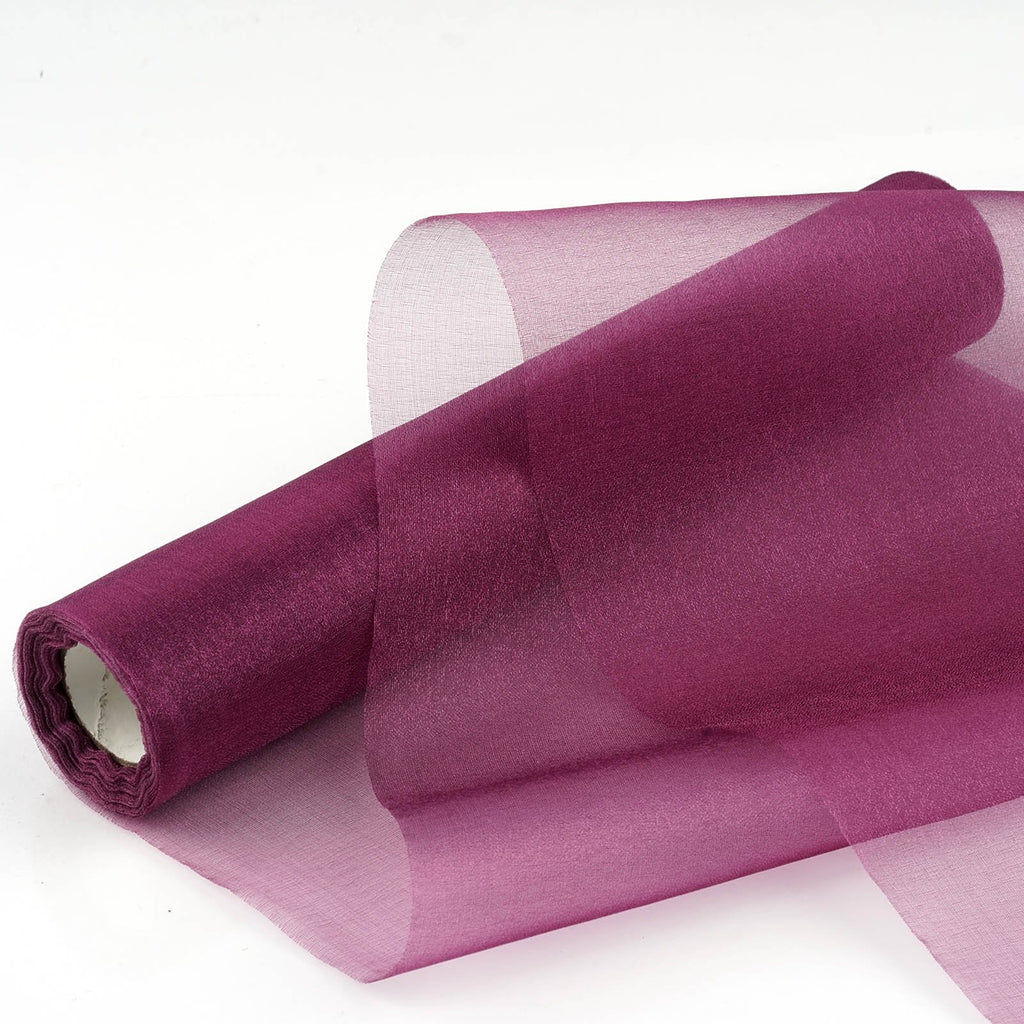 "Chiffon Fabric Bolt 12"" x 10Yards - Eggplant"