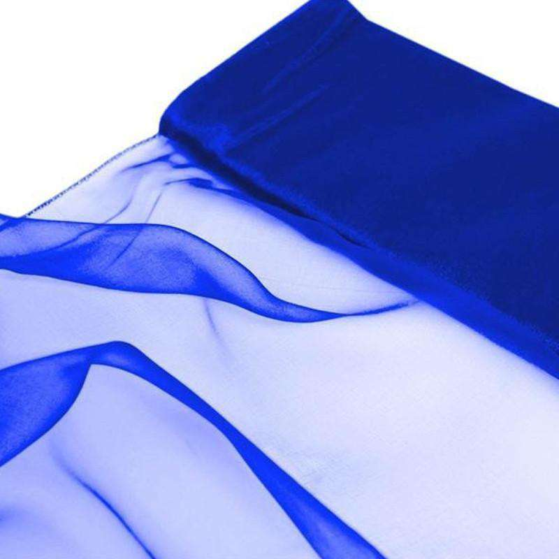 "Chiffon Fabric Bolt 12"" x 10Yards - Royal Blue"