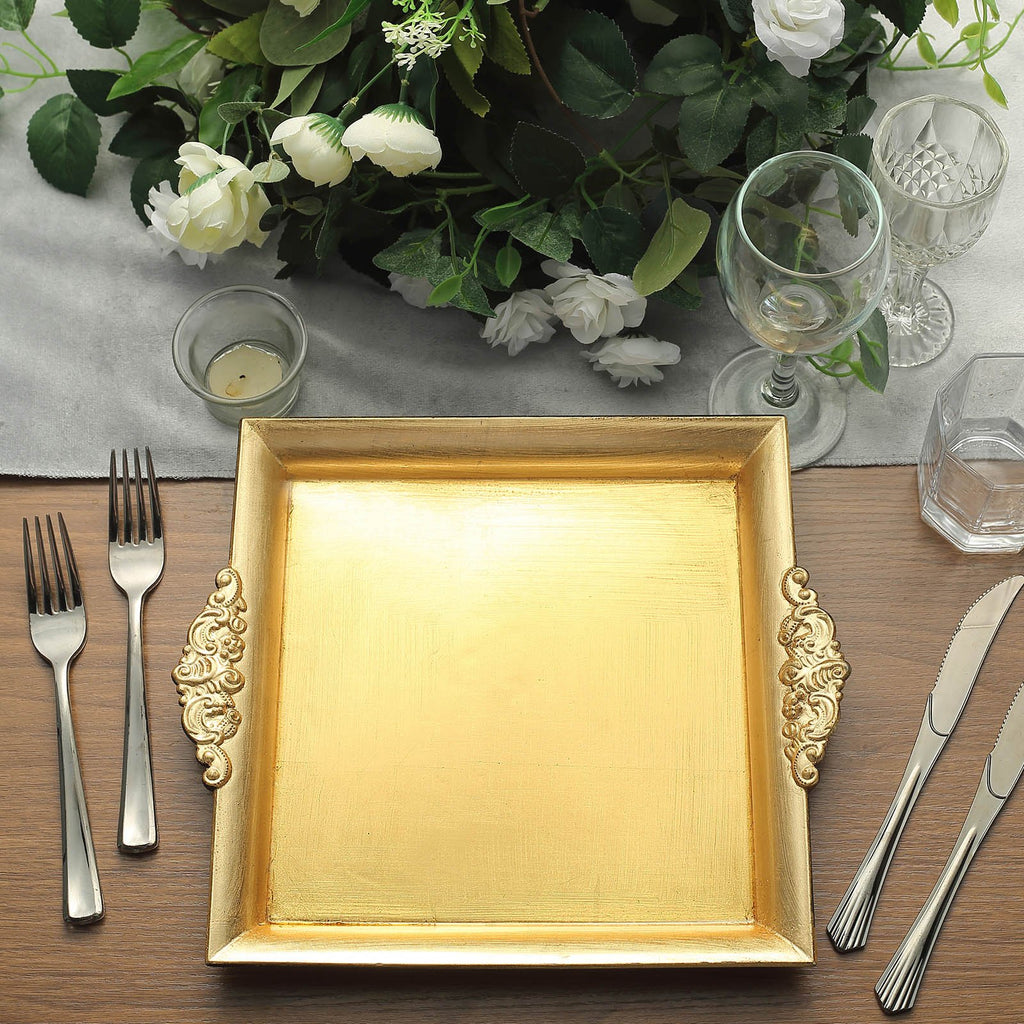 "Decorative Acrylic Serving Trays | Pack of 2 | 10"" Square 