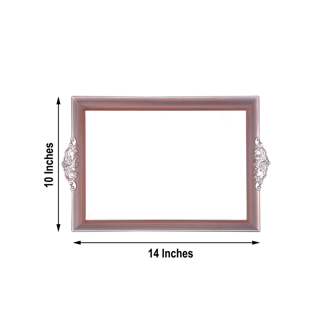 "2 Pack | 14""x10"" Rose Gold 