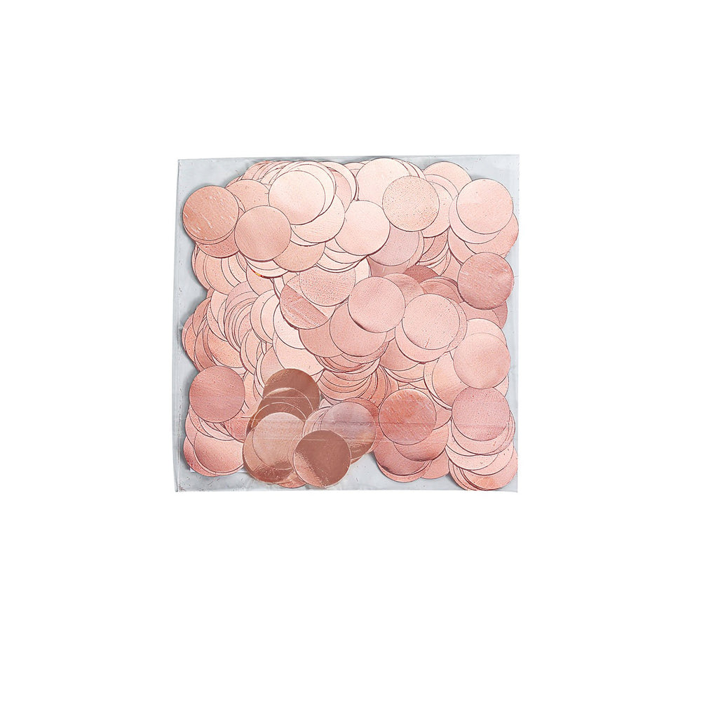 Rose Gold Round Foil Metallic Table Confetti Dots, Balloon Confetti Decor
