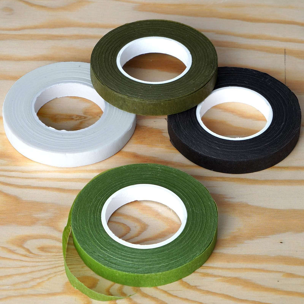 "1/2"" x 90 FT Brown Floral Tape for Stem Wrap Flower Bouquet - Buy One Get One Free"