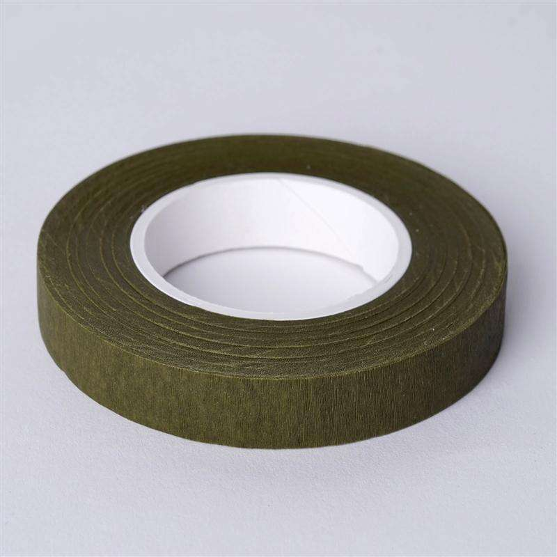 "1/2"" x 90 FT Olive Green Floral Tape"