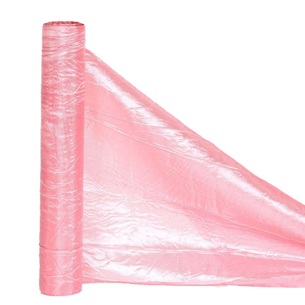 "ROSE QUARTZ Crinkle Taffeta Wedding Party Event Fabric Bolt - 12""x10 Yards"