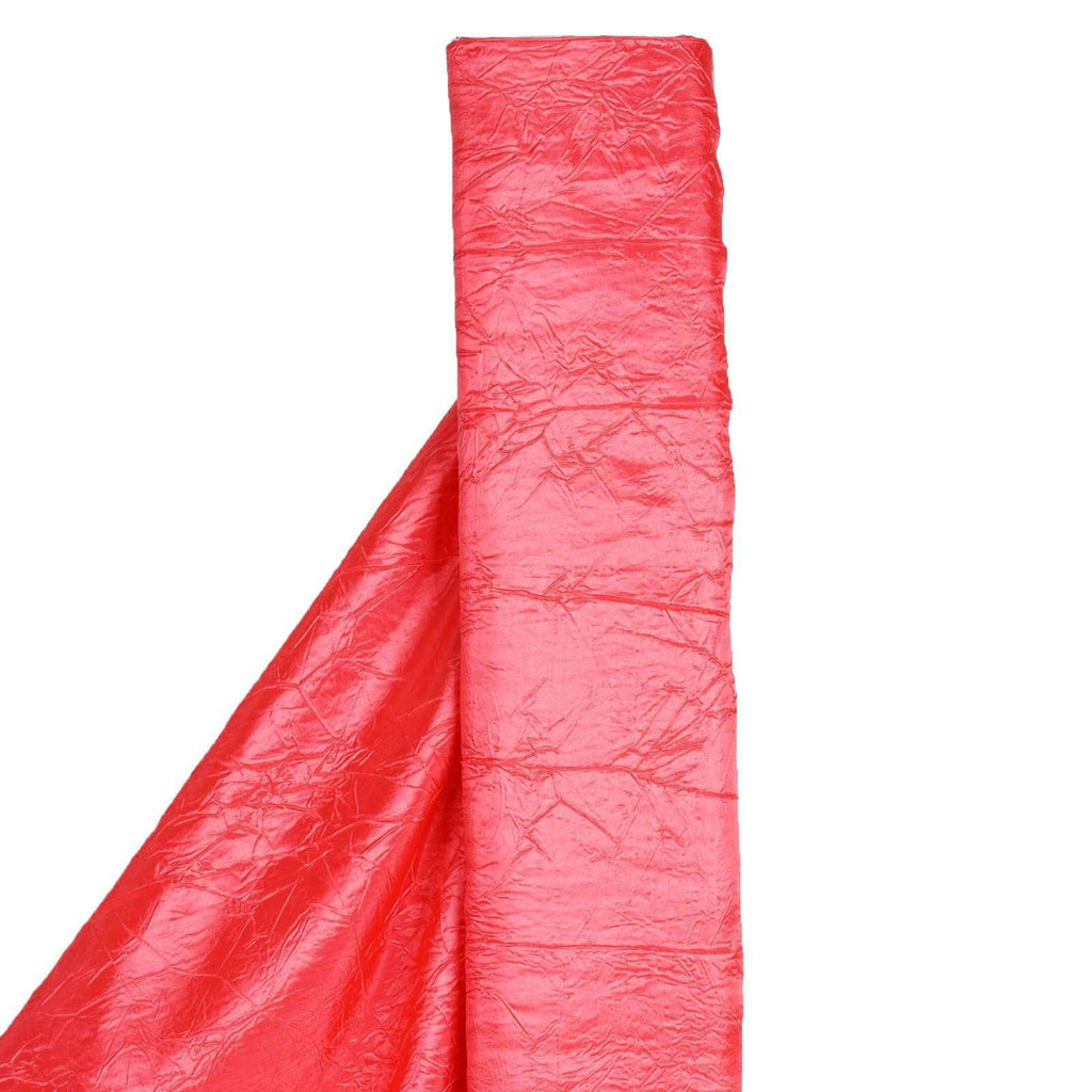"CORAL Crinkle Taffeta Wedding Party Event Fabric Bolt - 54""x10 Yards"