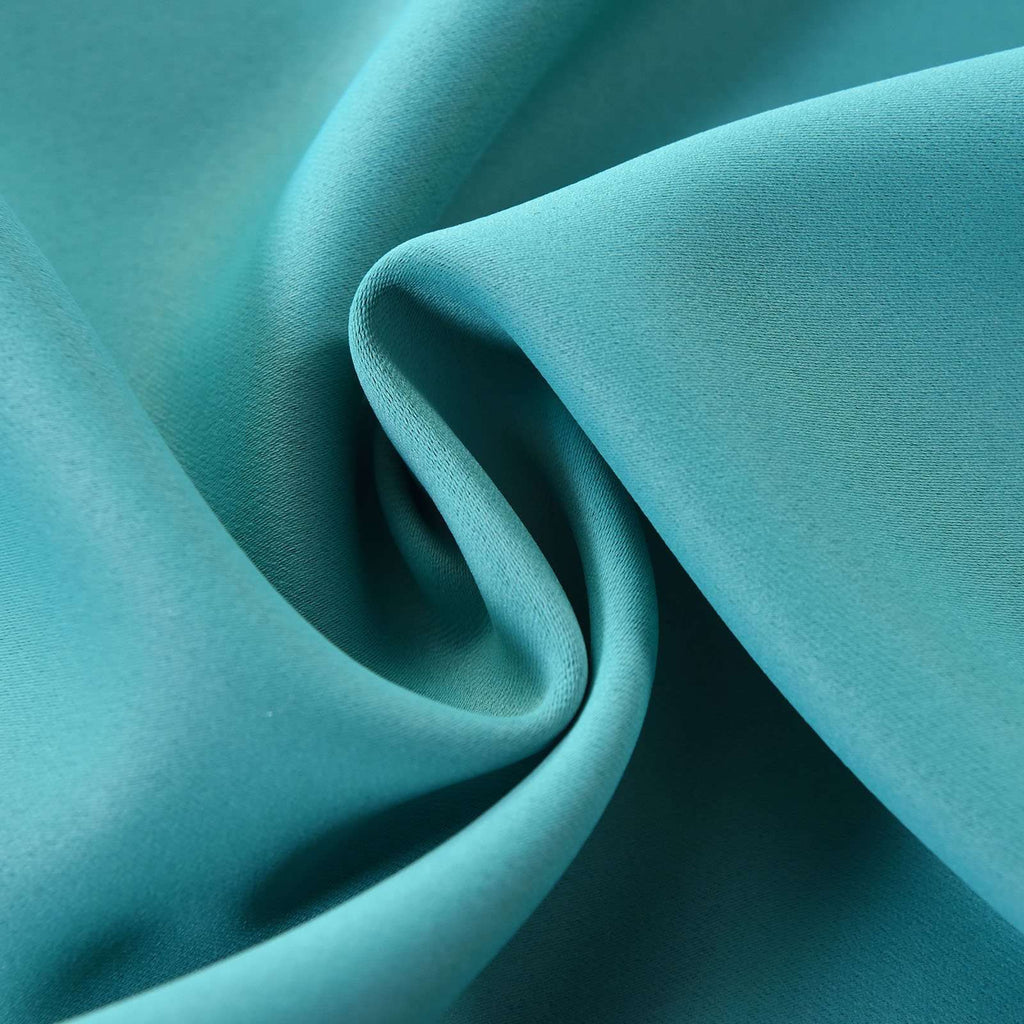 "Blackout Curtains 54x64"" Turquoise Pack of 2 Thermal Insulated With Chrome Grommet Curtain Panels"
