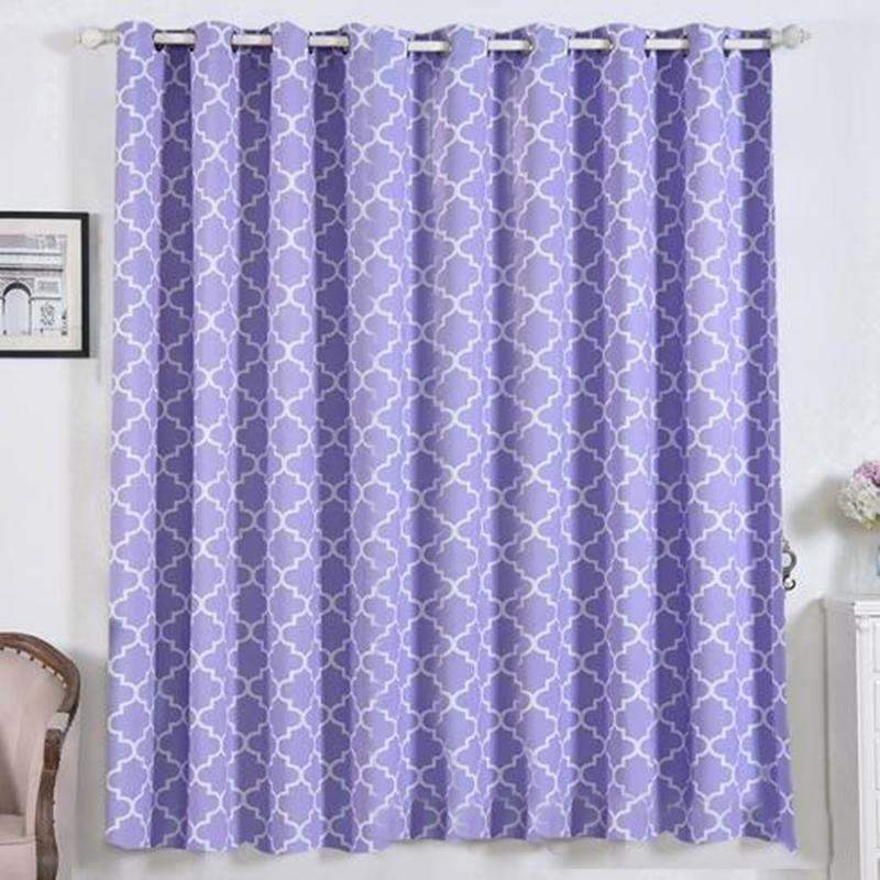 "2 Pack | 52""x84"" Lattice Print Thermal Blackout Curtains With Chrome Grommet Window Treatment Panels - White 