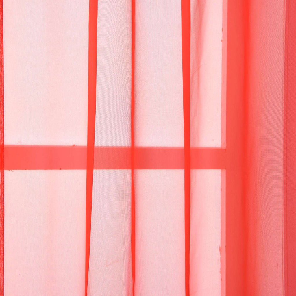 "52""x 64"" Coral Pack of 2 Sheer Organza with Rod Pocket Window Treatment Curtain Panels"