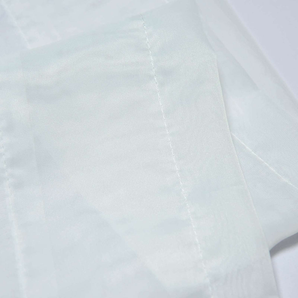 "52""x 64"" Ivory Pack of 2 Sheer Organza with Rod Pocket Window Treatment Curtain Panels"