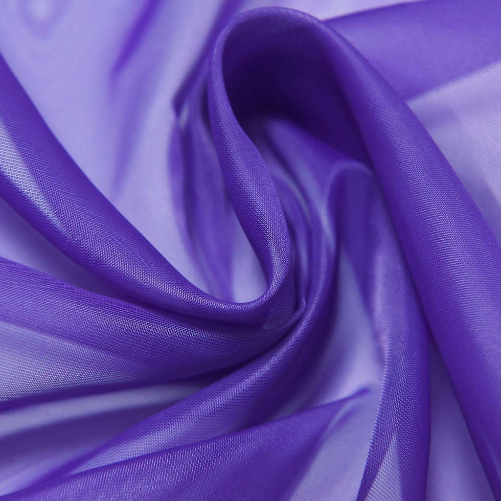 "52""x 84"" Purple Pack of 2 Sheer Organza with Rod Pocket Window Treatment Curtain Panels"