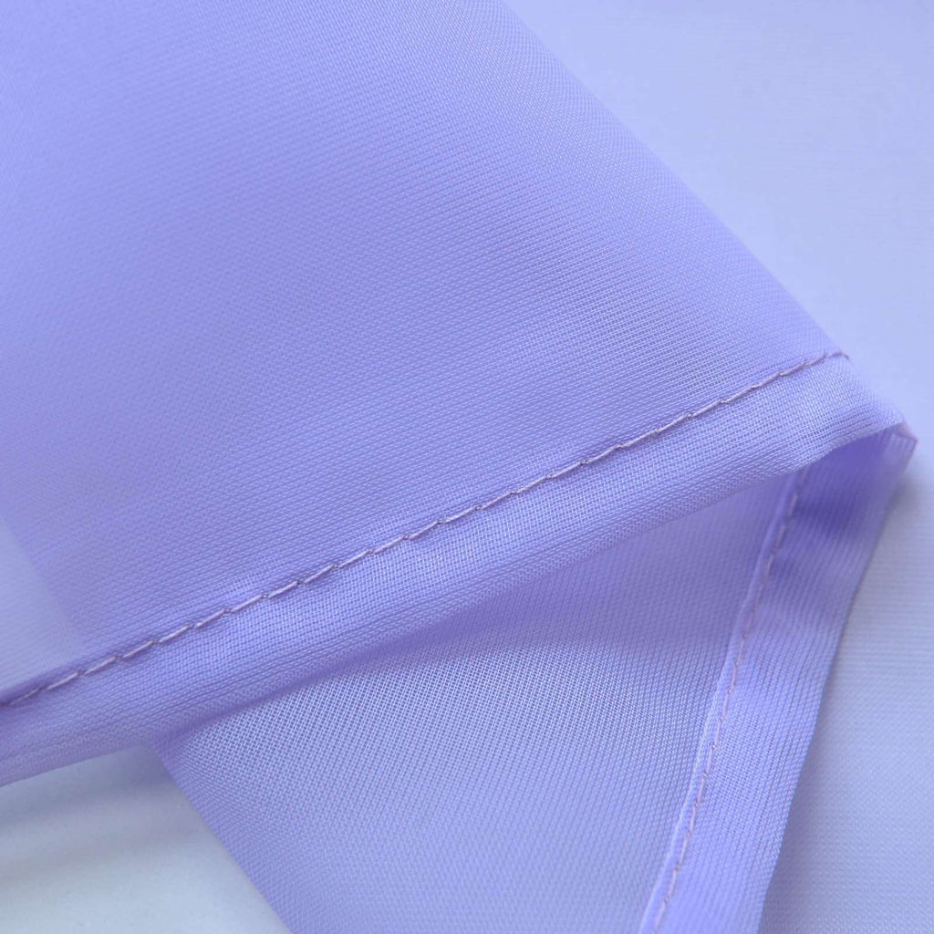 "52""x 96"" Lavender Pack of 2 Sheer Organza with Rod Pocket Window Treatment Curtain Panels"