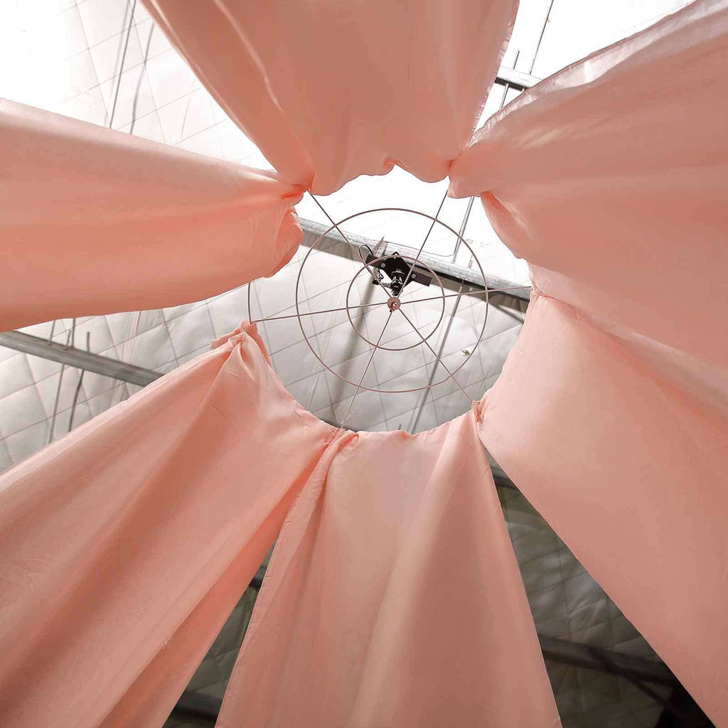 "20Ft Blush Ceiling Drapes Sheer Curtain Panels Fire Retardant Fabric With 4"" Pocket"