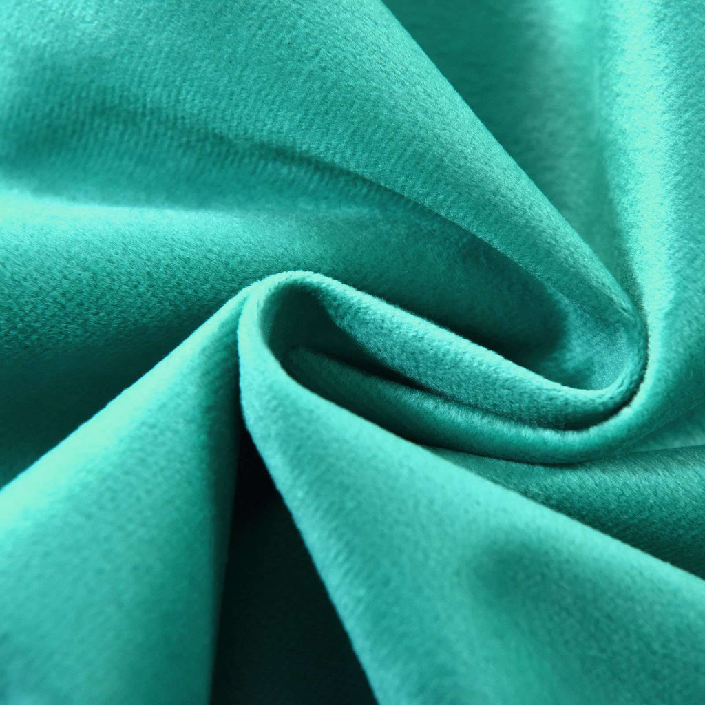 "2 Pack | 52""X64"" Teal Premium Velvet Thermal Blackout Curtains With Chrome Grommet Window Treatment Panels"
