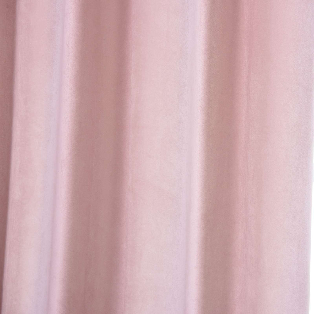 "2 Pack | 52""X84"" Premium Velvet Thermal Blackout Curtains With Chrome Grommet Window Treatment Panels - Rose Gold 