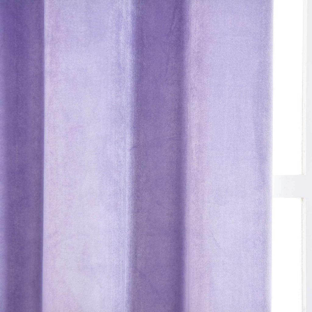 "2 Pack | 52""X96"" Lavender Premium Velvet Thermal Blackout Curtains With Chrome Grommet Window Treatment Panels"