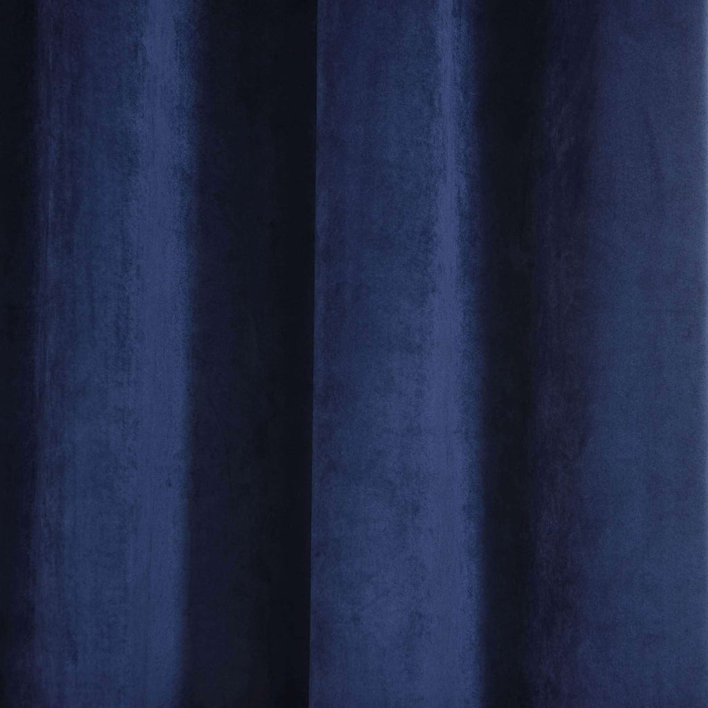 "2 Pack | 52""X96"" Navy Blue Premium Velvet Thermal Blackout Curtains With Chrome Grommet Window Treatment Panels"