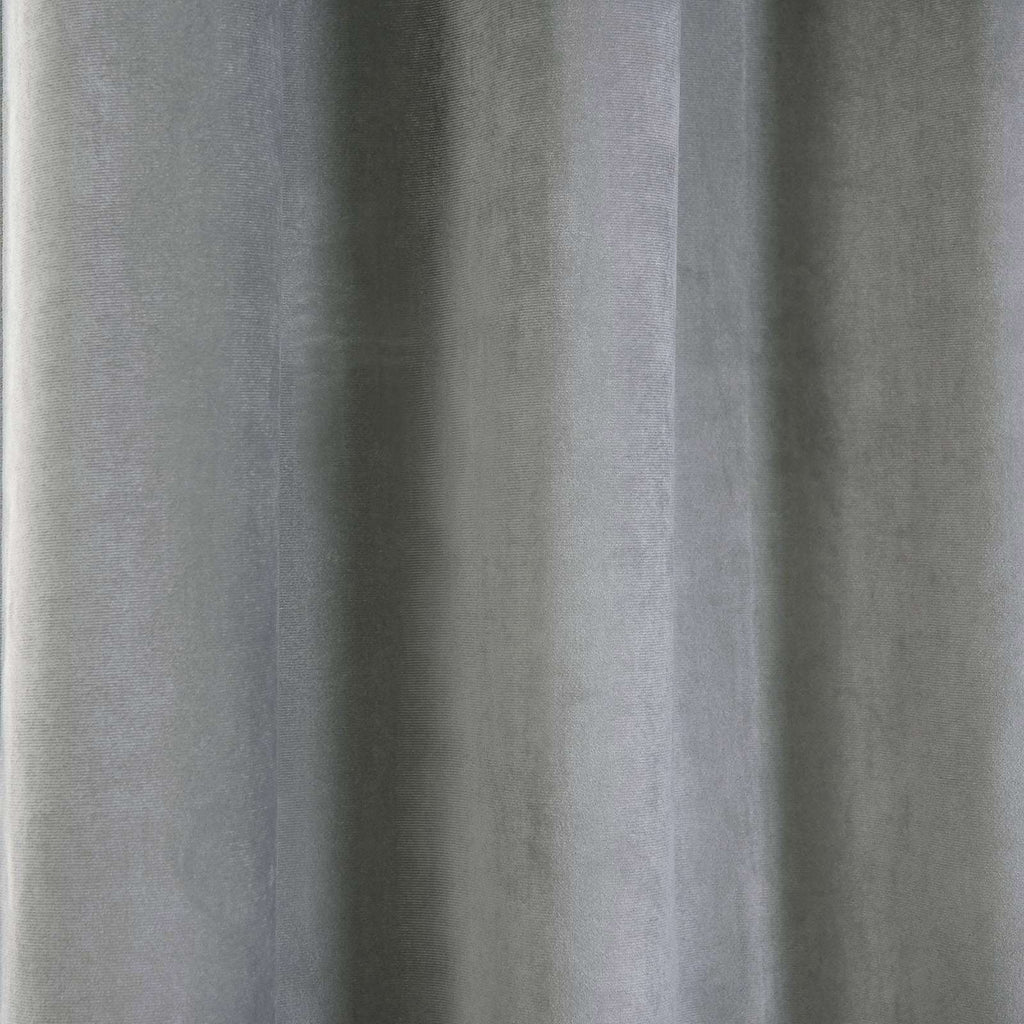 "2 Pack | 52""X96"" Silver Premium Velvet Thermal Blackout Curtains With Chrome Grommet Window Treatment Panels"
