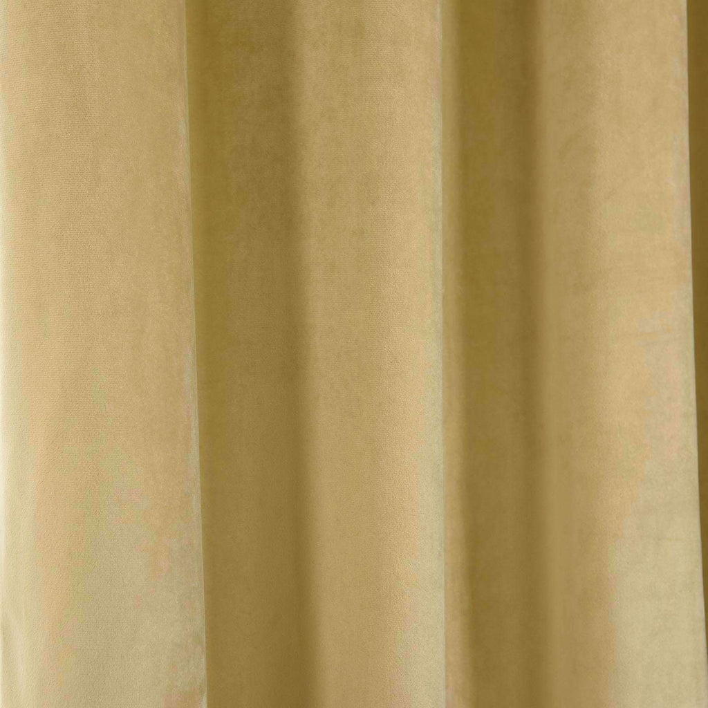 "2 Pack | 52""X108"" Champagne Soft Velvet Thermal Blackout Curtains With Chrome Grommet Window Treatment Panels"
