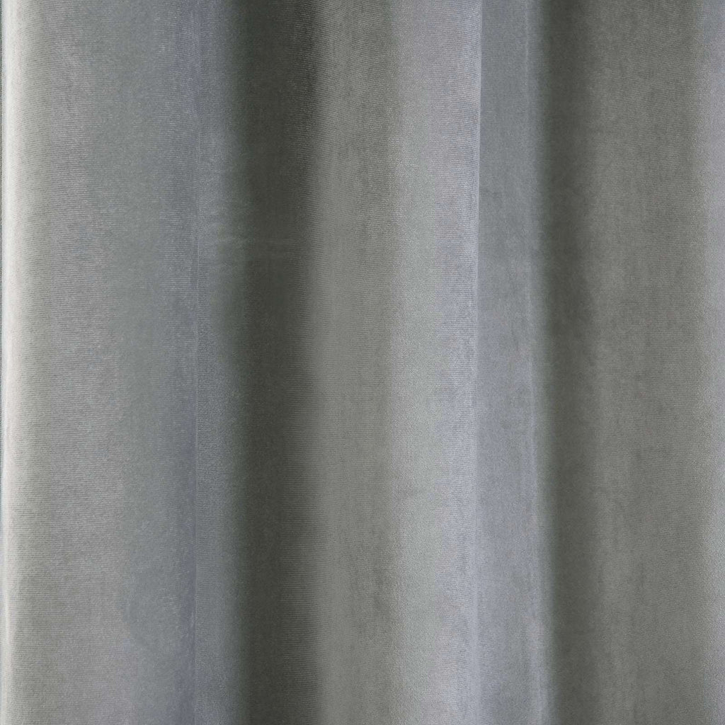 "2 Pack | 52""X108"" Silver Soft Velvet Thermal Blackout Curtains With Chrome Grommet Window Treatment Panels"