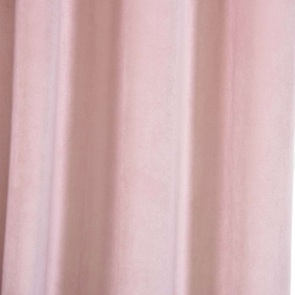 "2 Pack | 52""X64"" Soft Velvet Thermal Blackout Curtains With Chrome Grommet Window Treatment Panels - Rose Gold 