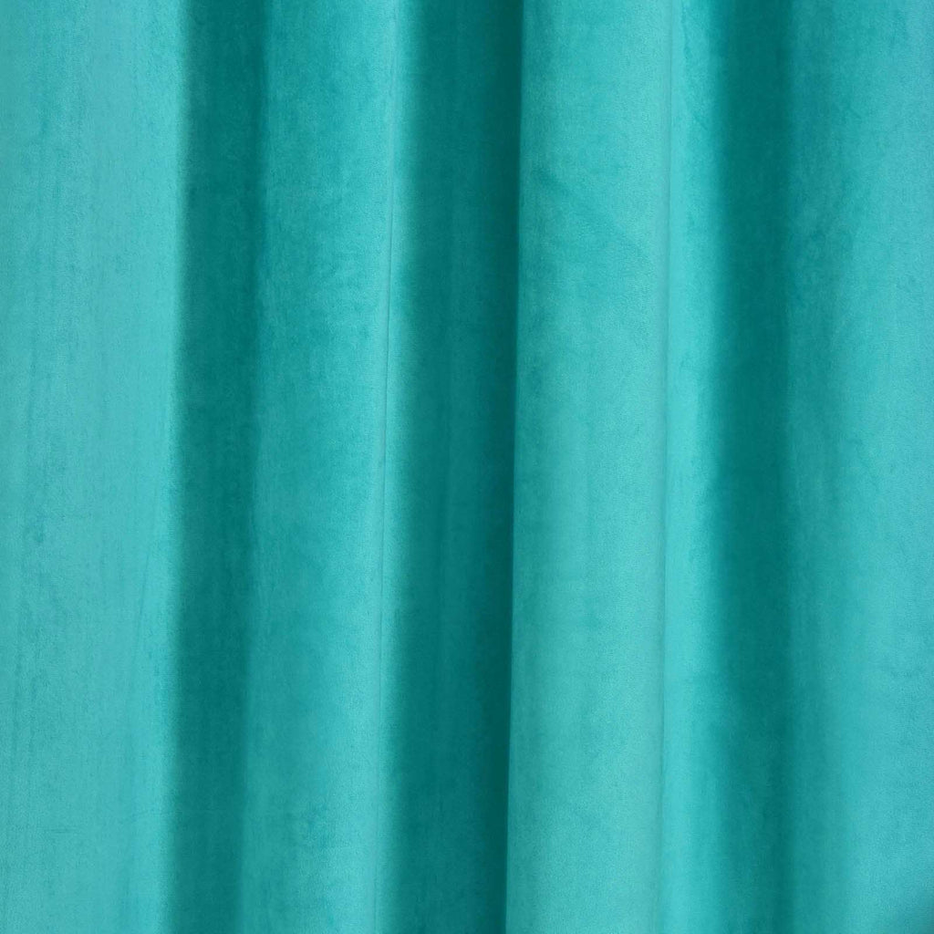 "2 Pack | 52""X64"" Teal Soft Velvet Thermal Blackout Curtains With Chrome Grommet Window Treatment Panels"