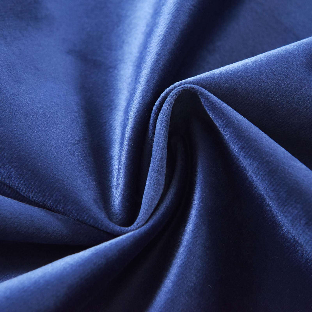 "2 Pack | 52""X84"" Navy Blue Soft Velvet Thermal Blackout Curtains With Chrome Grommet Window Treatment Panels"