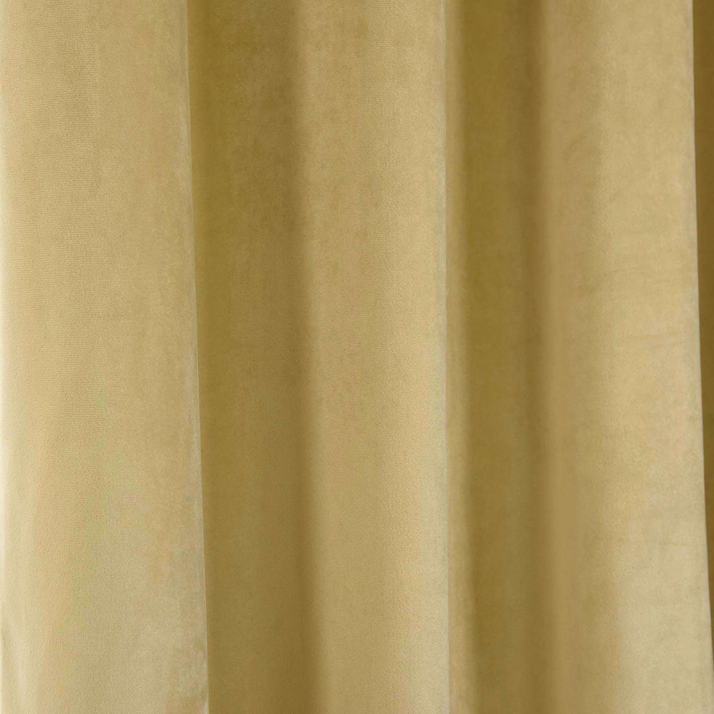 "2 Pack | 52""X96"" Champagne Soft Velvet Thermal Blackout Curtains With Chrome Grommet Window Treatment Panels"