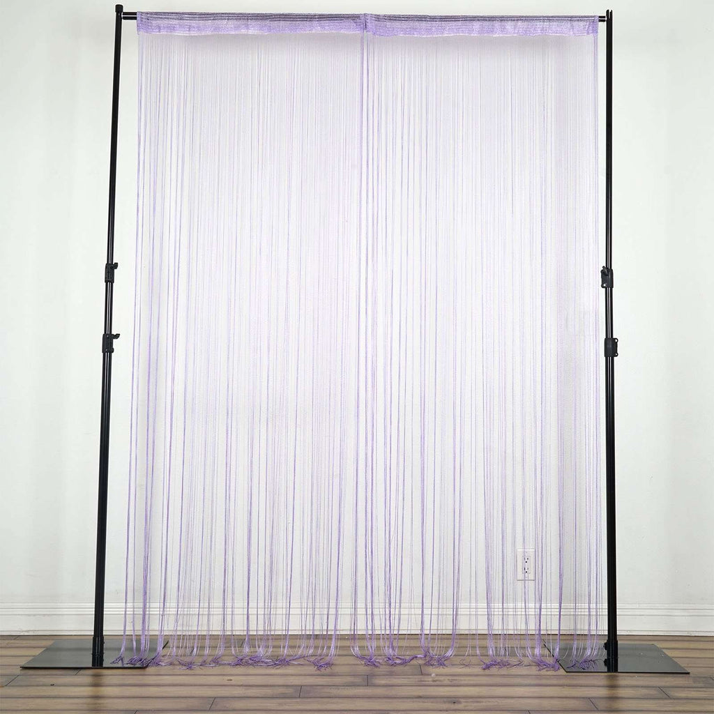3ft x 12ft Violet Silk Tassel Door String Curtain For Wedding Home Window Panel Room Blind Divider