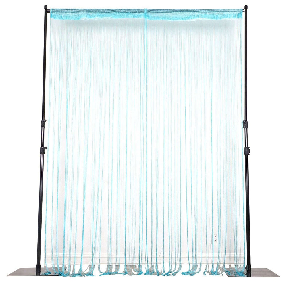 3ft x 12ft Turquoise Silk Tassel Door String Curtain For Wedding Home Window Panel Room Blind Divider