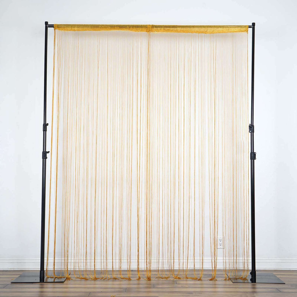 3ft x 8ft Fringe Inspired String Tassel Curtain - Gold