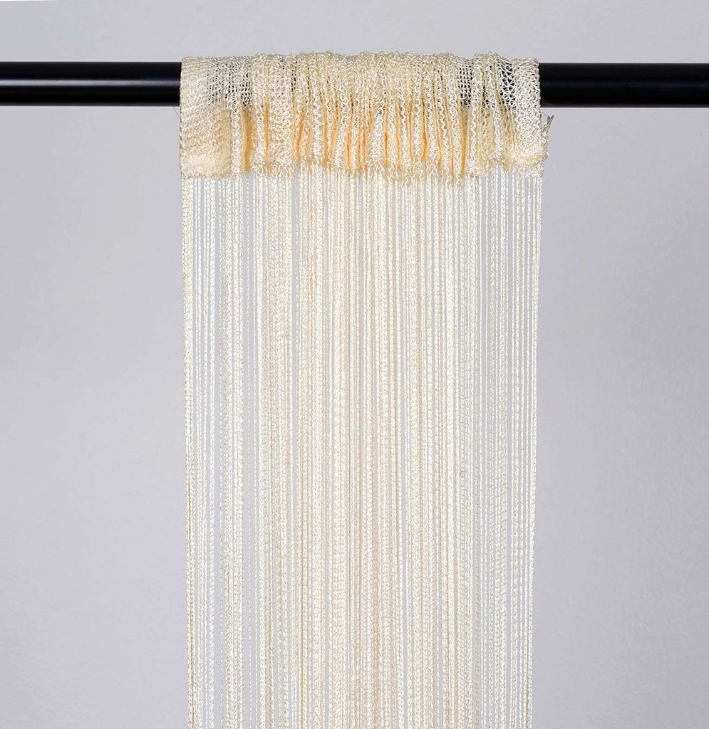 3ft x 8ft Ivory Silk Tassel Door String Curtain