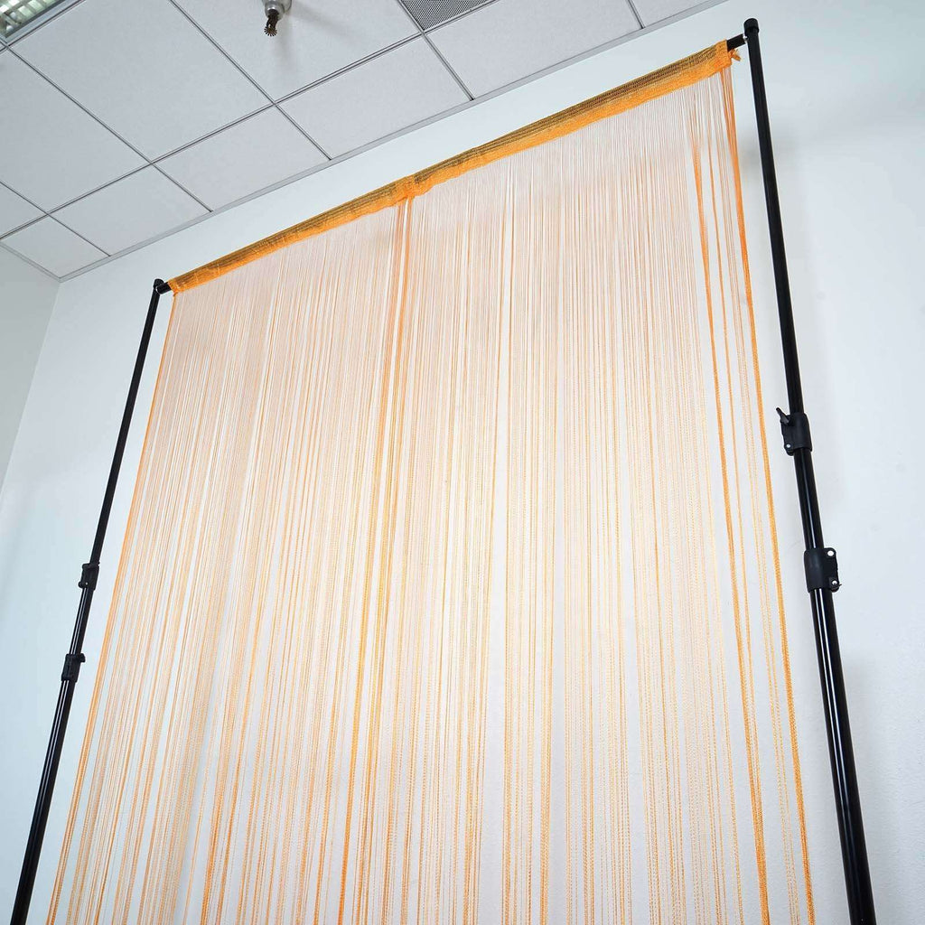 3ft x 8ft Fringe Inspired String Tassel Curtain - Orange
