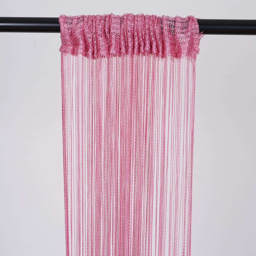 3ft x 8ft Pink Silk Tassel Door String Curtain