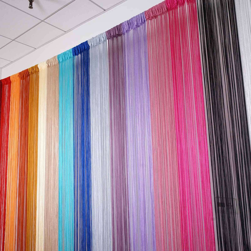 3ft x 8ft Fringe Inspired String Tassel Curtain - Pink