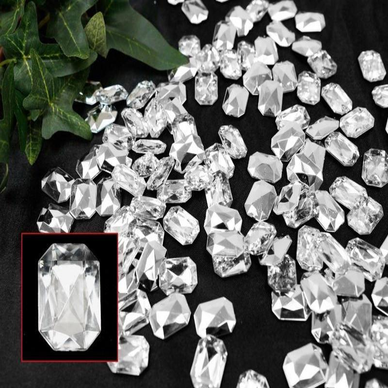470 Pcs Clear Emerald-Cut Endless Diamond Rhinestones