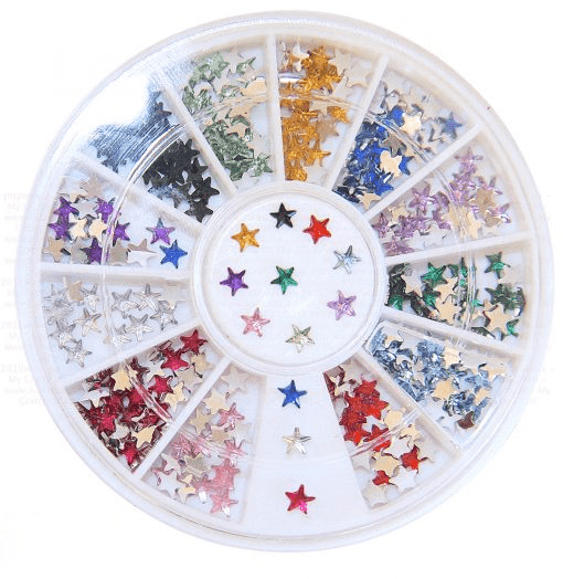 600 Pcs Self Adhesive Sapphire Diamond Rhinestone Star Shaped DIY Stickers